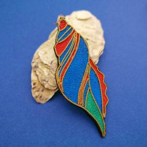 boucle shell single blue emiliesarnel