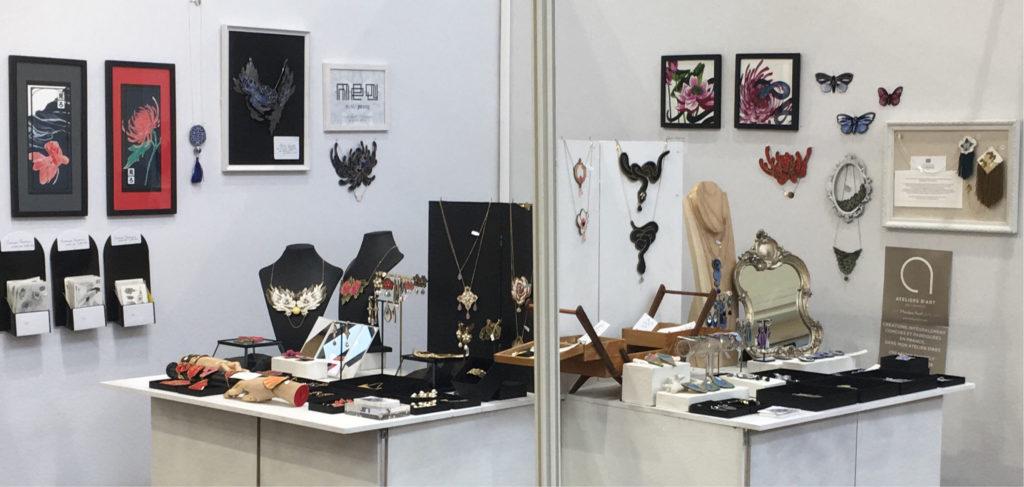 Ob'Art Paris / Stand Nini Peony bijoux brodés